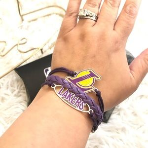 Ashley Bridget NBA LA Lakers Purple White Bracelet